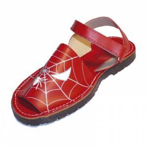 Imagen 627_Avarca - Menorquina piel niño Spiderman Talla 25